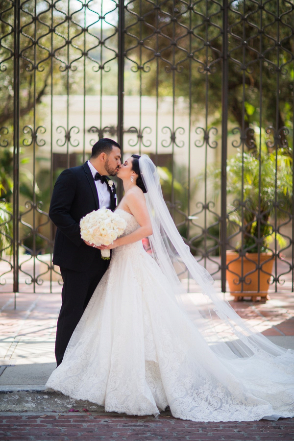 Classic LA bride and groom