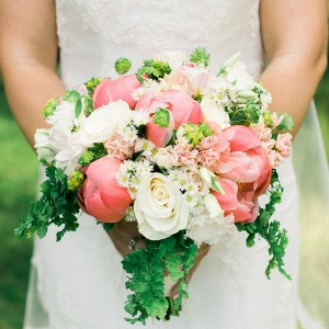coral and white bouquet on Every Last Detail