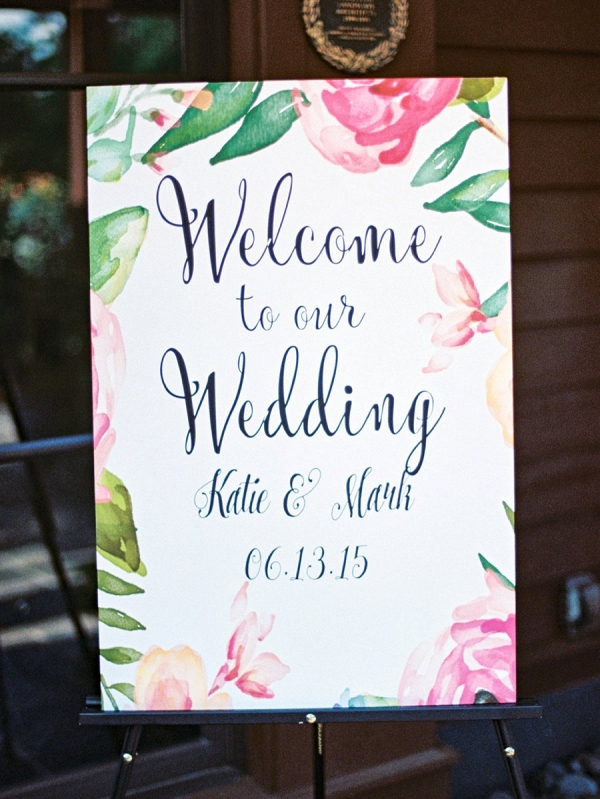 Floral Welcome Sign on Every Last Detail
