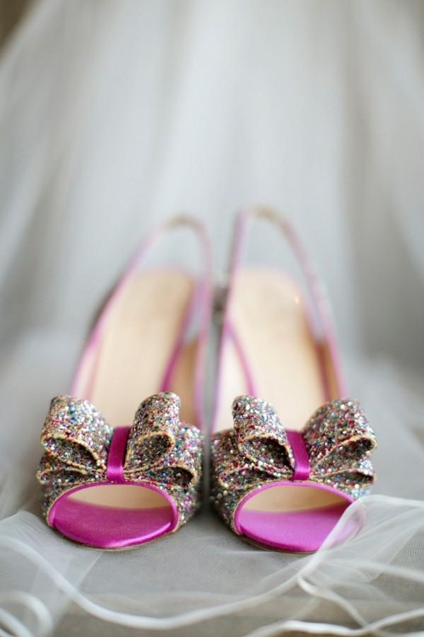 Pink glitter Kate Spade heels