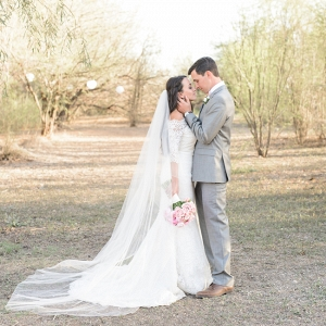 Bride & Groom Portraits in Orchard