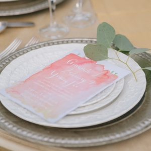 Watercolor Menu Card