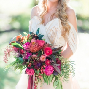 Gorgeous Blush And Magenta Bouquet