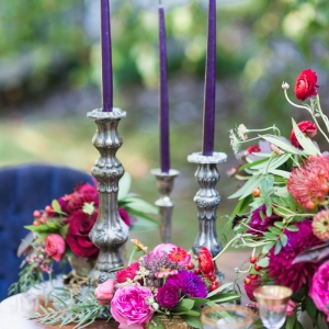 Pretty Purple And Magenta Tablescape