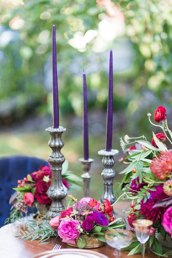 Pretty Purple And Magenta Tablescape