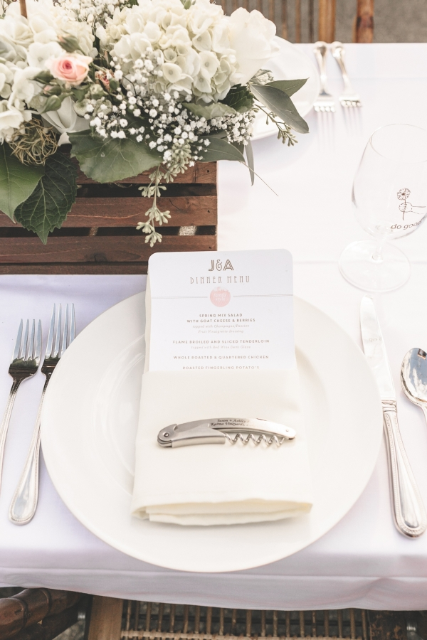 White And Green, Clean And Classic Place Setting