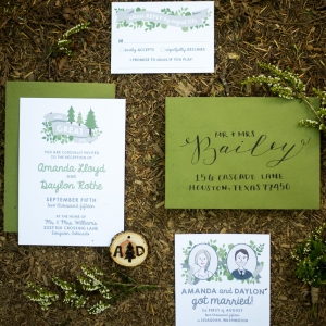 Cute And Rustic Treehouse Wedding Invitations