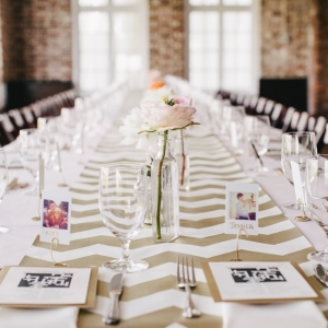 Gold And Pink Brunch Wedding