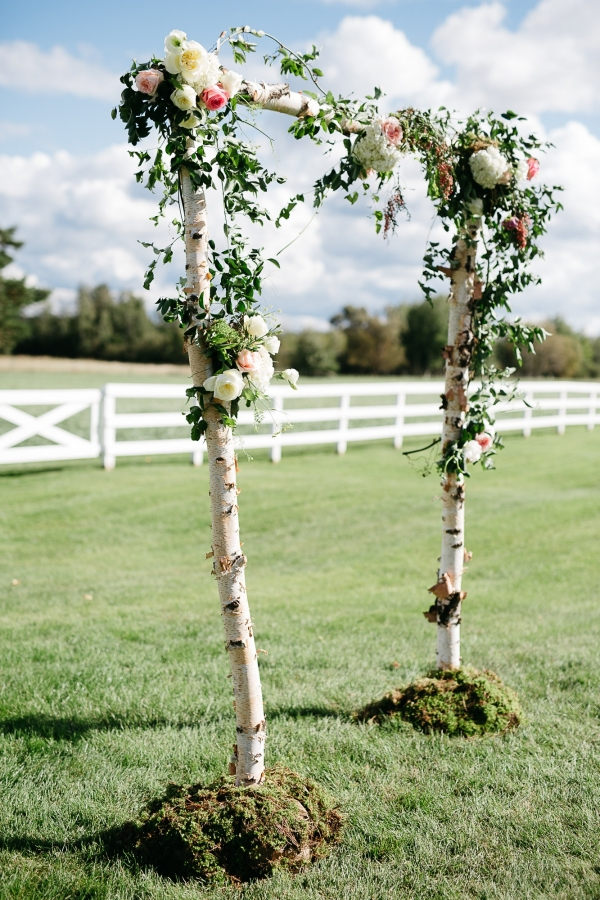 Flower Covered Ceremony Arch