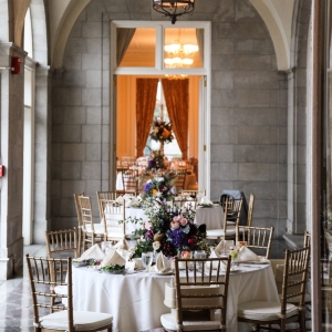 Elegant Aldrich Mansion Reception Tables