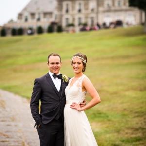 Bride And Groom At Aldrich Mansion