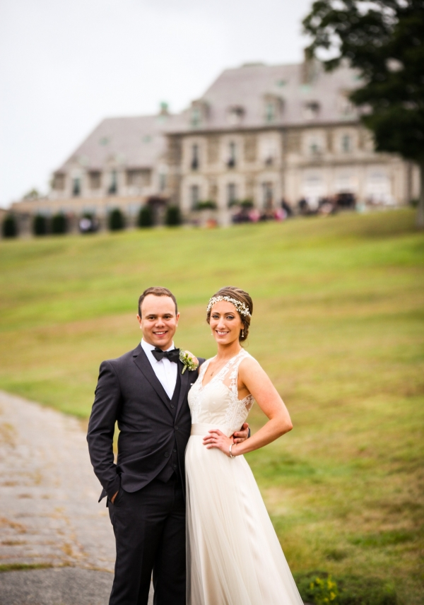 Bride And Groom At Aldrich Mansion