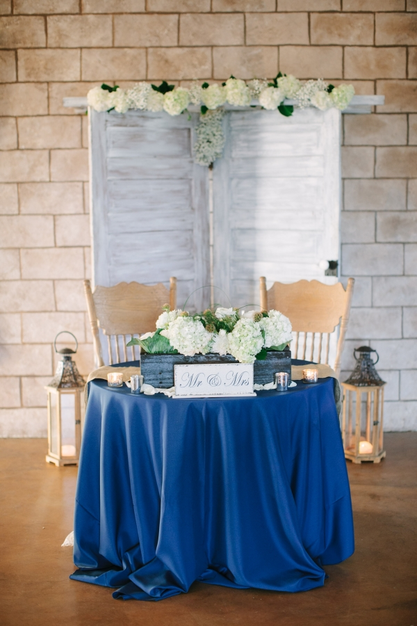 Royal Blue Sweetheart Table