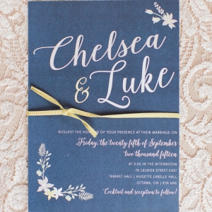 Cute Blue Invitations