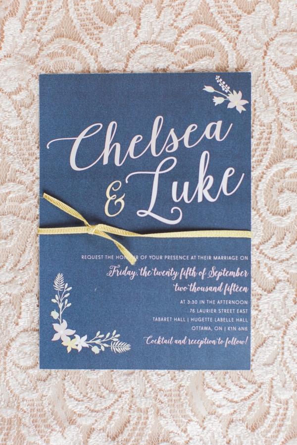 Cute Blue Invitations