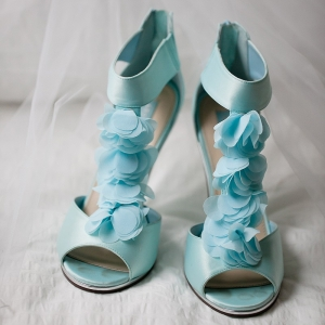 Bride's Unique Blue Shoes