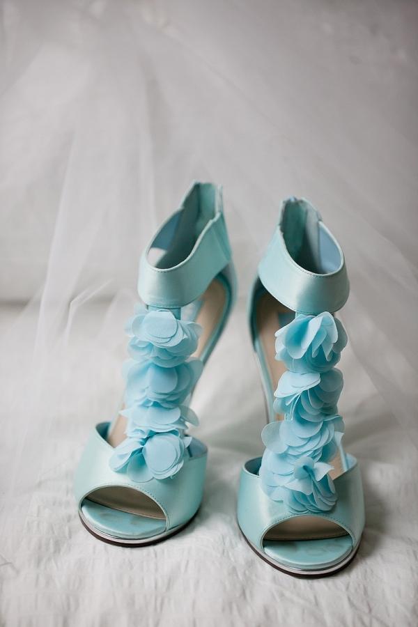 Bride's Unique Blue Shoes