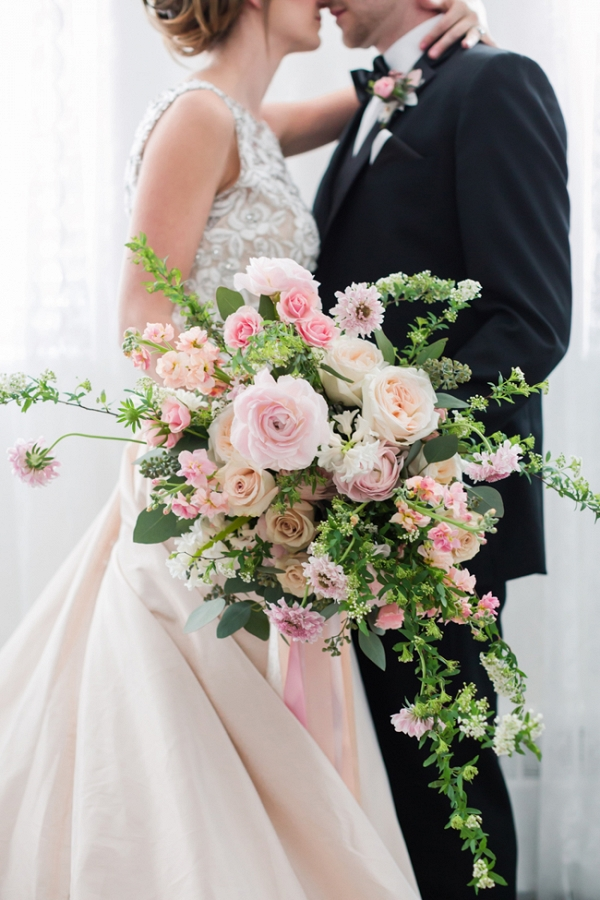 Beautiful Flowing Rose And Greenery Bouquet