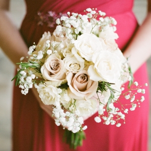 White And Blush Bridesmaid's Bouquet