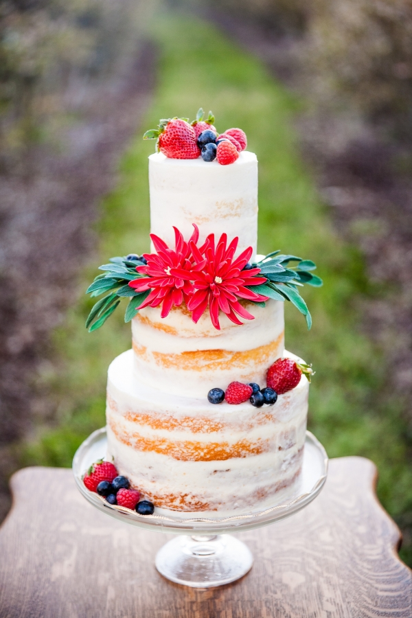 Summer Berries Naked Cake