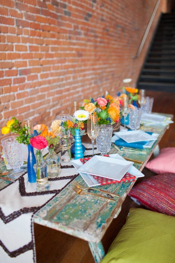 Colorful Eco-Conscious Table
