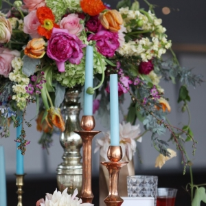 Pretty And Colorful Wedding Table
