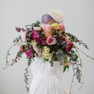 Colorful Unstructured Wedding Bouquet