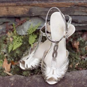 Bride's Gold Shoes