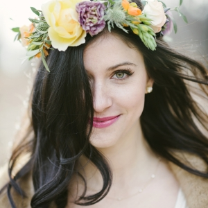 Whimsical Bride With Floral Crown