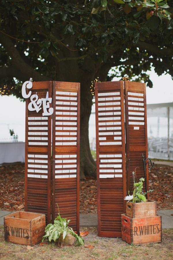 Wood Shutters Escort Display