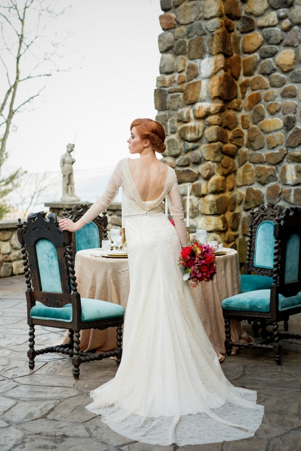 Back View Of A Gorgeous Vintage Gown