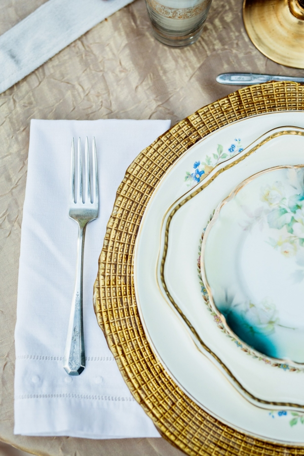 Gold And Blue Vintage China