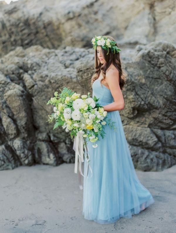 Dusky Blue Bridal Gown