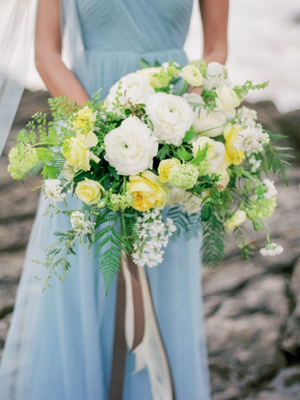 Yellow, White, And Green Bouquet