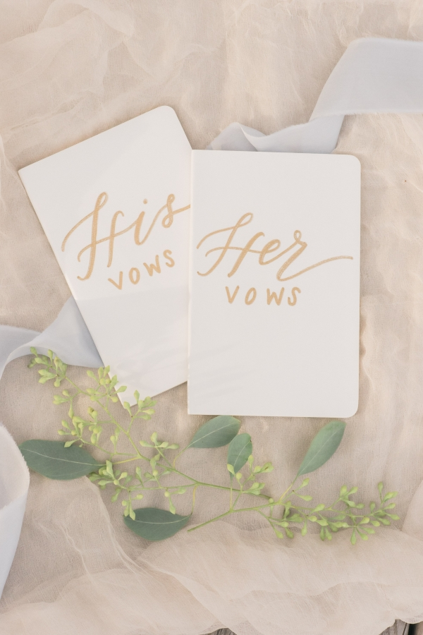 His and hers vow cards