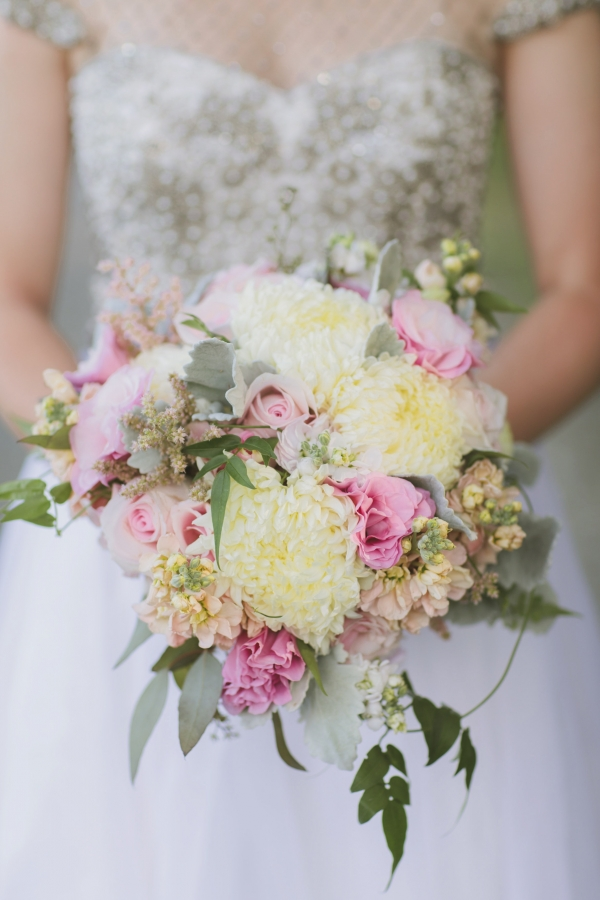 Pink And White Chrysanthemum Bouquet
