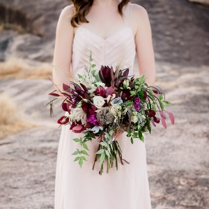 Gorgeous Bouquet with Celia Grace Gown