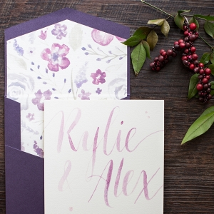 Pretty Lavender & Purple Wedding Invitations