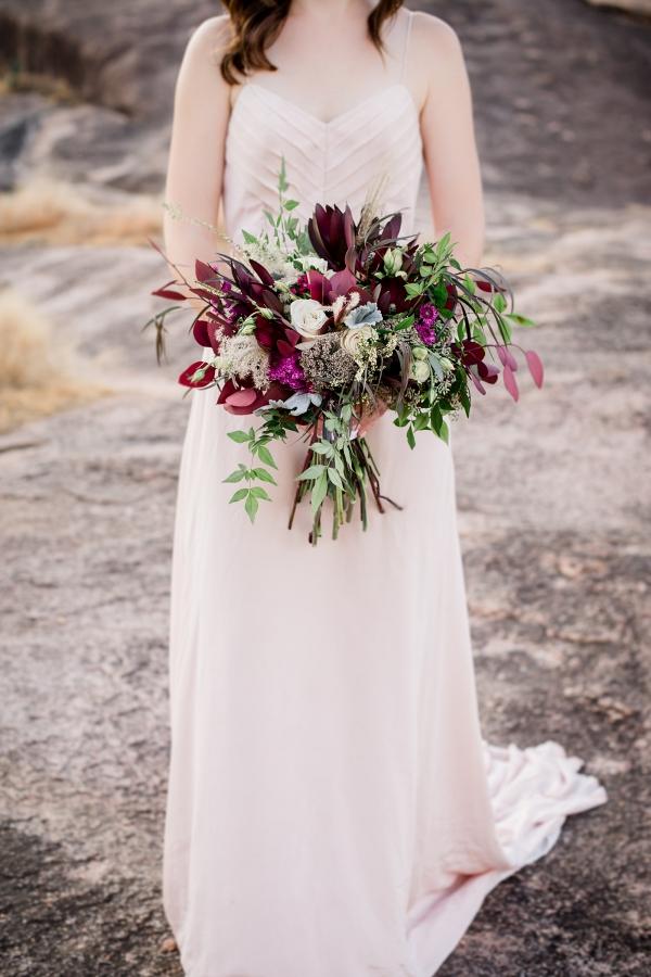 Gorgeous Bouquet with Celia Grace Gown