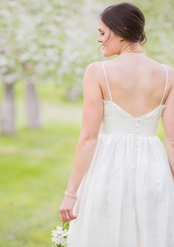 Back of Celia Grace gown