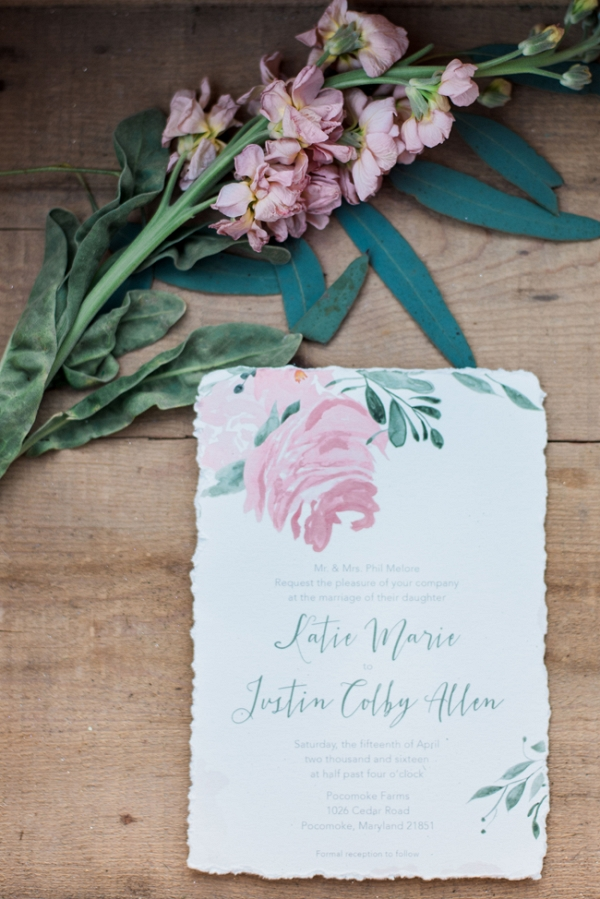Floral Inspired Wedding Invitations