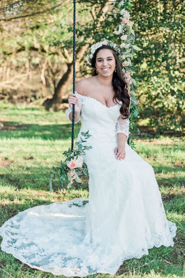 Bride on Swing
