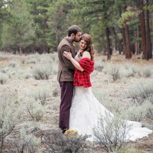 Rustic Bride And Groom Portraits