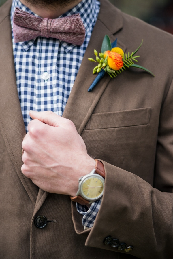Rustic Groom In Brown And Blue