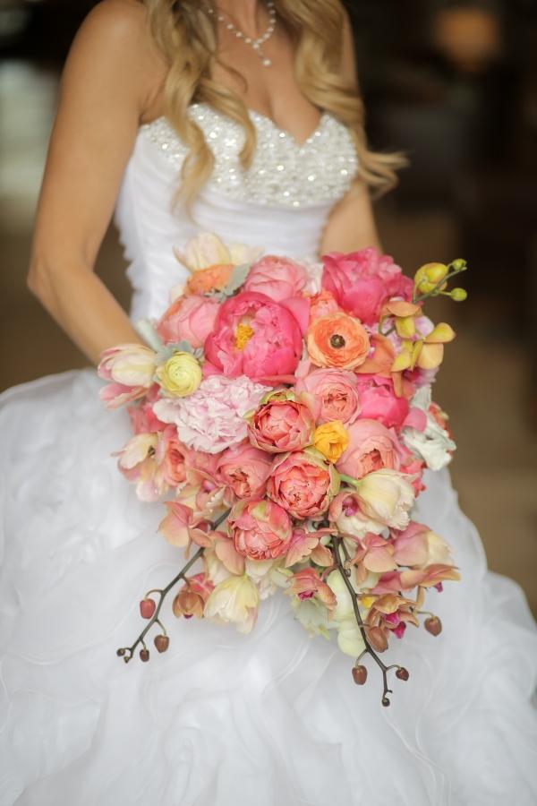 Beautiful pink peony bouquet