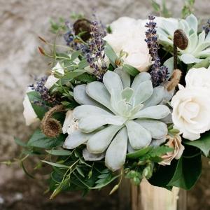 Gorgeous succulent bridal bouquet