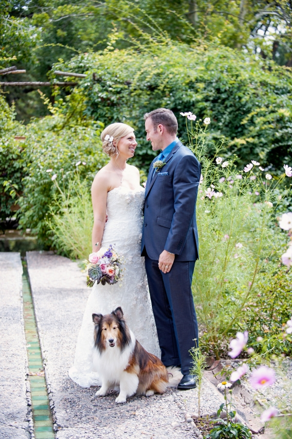 Organic farm wedding