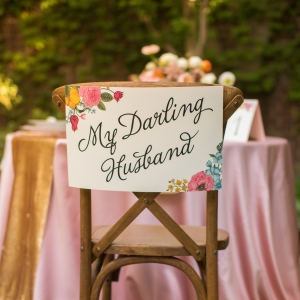 My Darling Husband Chair Sign