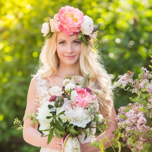Bride With Stunning Floral Crown