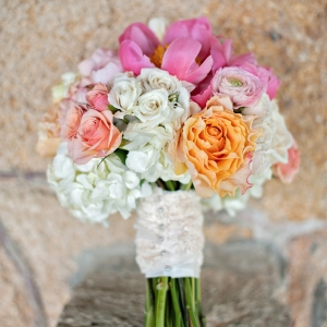 Peony, Rose, And Hydrangea Bouquet